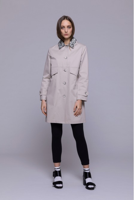 Trench droit beige