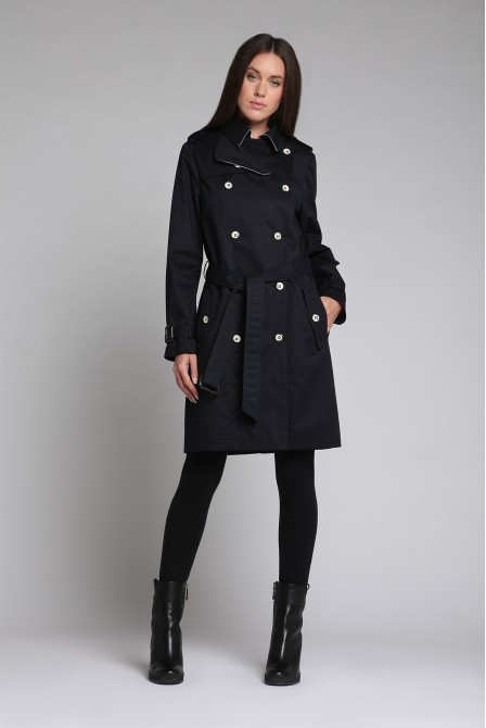 Trench coat bleu marine
