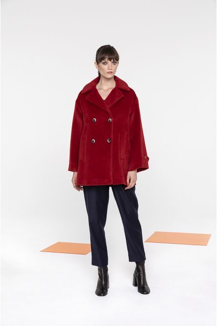 Peacoat in red alpaca