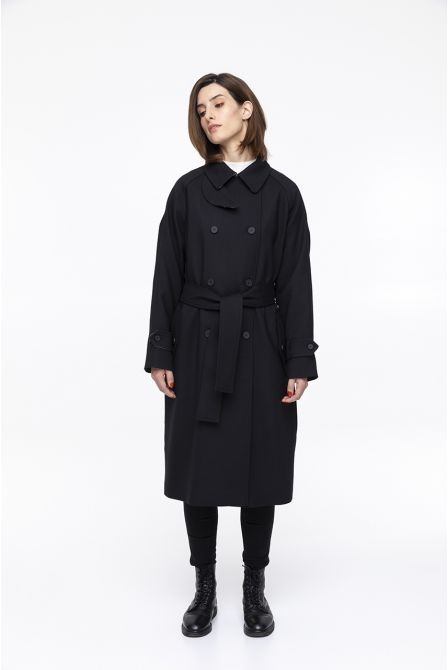 black coat spirit trench coat