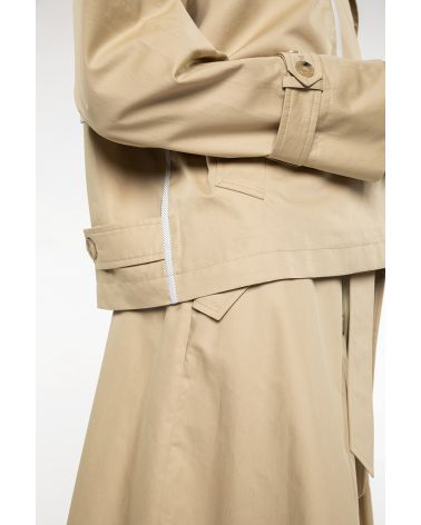 Oversized jacket with an ultra-short Trench style