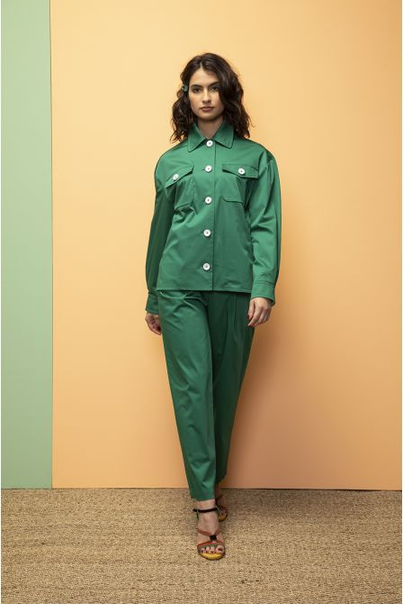Workwear Jacket in green cotton