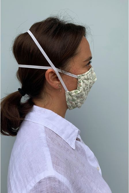Packs of 2 barrier mask with a bucolic print