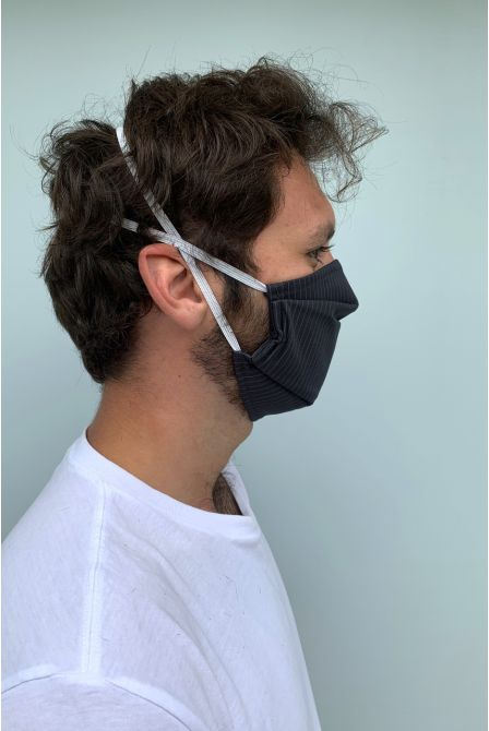 Packs of 2 dark navy blue barrier mask