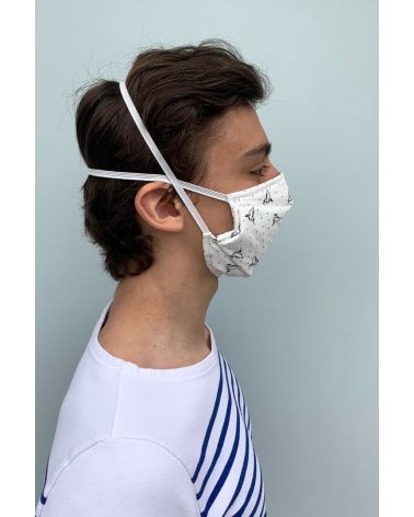 Packs of 2 barrier mask with origami print