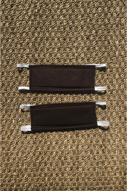 Packs of 2 chocolate brown barrier mask