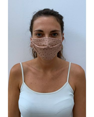 Packs of 2 stared pink barrier mask