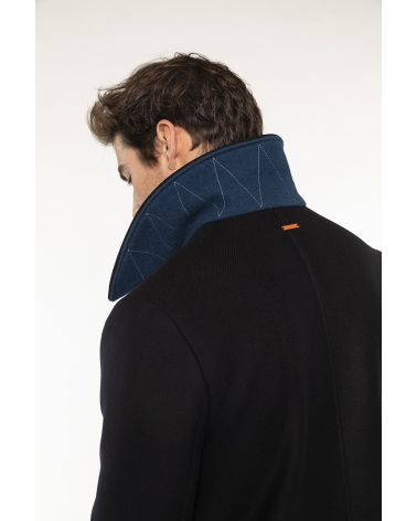 Authentic navy blue wool pea coat
