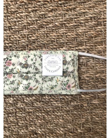Packs of 10 barrier mask with a bucolic print